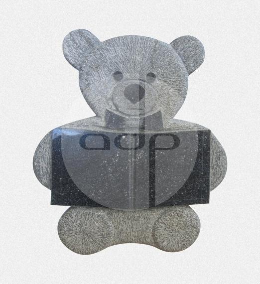 ADPL.17-Lápide com Urso esculpido