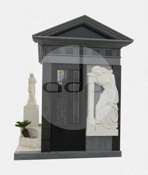 Jazigo Capela cinza com Escultura