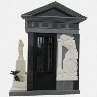 J04 - Jazigo Capela Cinza com Escultura