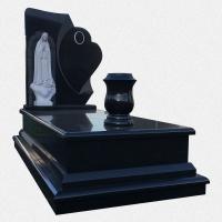 Campa em Granito Preto com escultura