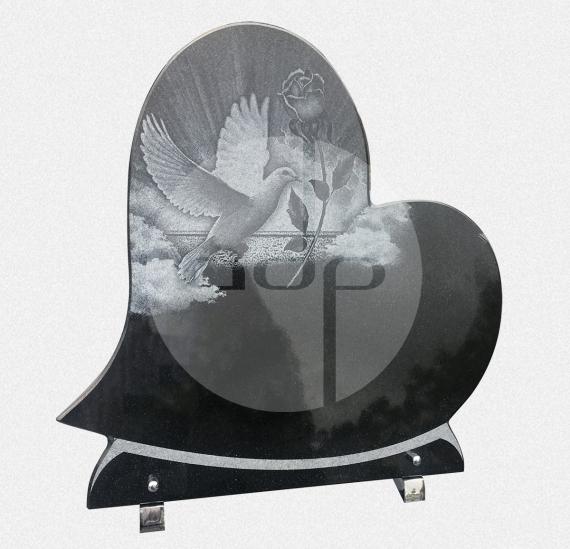 ADPL.23-Lápide em Granito Preto com Gravação a Laser