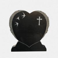 ADPA.05-Alçado Preto em Forma de Coração Esculpido