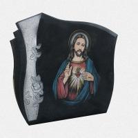 ADPA.01-Alçado com pintura manual do sagrado coração de jesus