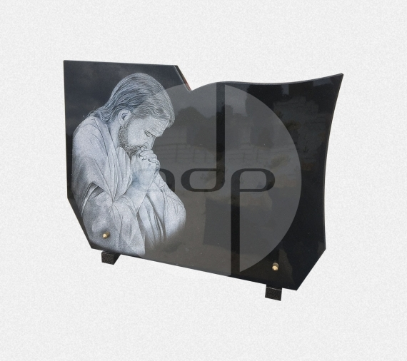 ADPL.28-Lápide com Gravação a Laser de Cristo
