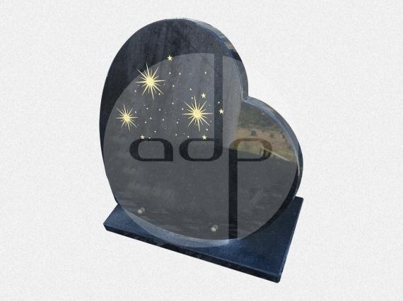 ADPL.29-Lápide em Forma de coração com Pintura Mnual