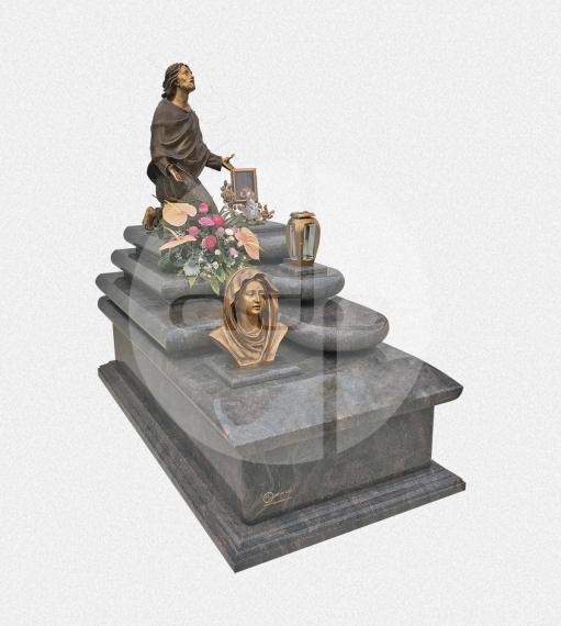 Campa em Granito Himalaya com acessórios em Bronze