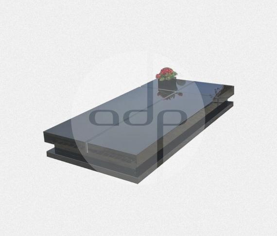 SC09 - Campa Simples em Granito Preto