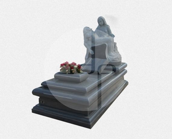 Campa em Granito Cinza com escultura