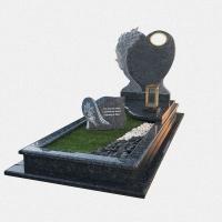Campa em Granito Azul Labrador com escultura